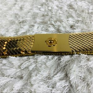 Gold Stretch Metal Scales Belt Sz Small
